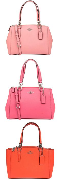 Coach Christie Carryall in Crossgrain Leather – Best Quality Leather Satchel. The Coach satchel uses the highest quality leather. The crossgrain leather of the Coach satchel is similar to top grain with a slight difference. Crossgrain leather is better than genuine. This bag provides a solid length shoulder drop.  #Coach #Crossbody #Purse #Leather #Satchel #Bag #Red #Pink #Orange