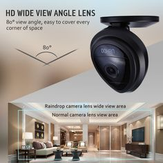 Mini IP Camera, UOKOO Home WiFi Wireless Security Surveillance Camera System with Night Vision/Two Way Audio (nightblack) Wireless Ip Camera, Wireless Security Cameras, Hidden Camera, Security Surveillance, Utensil Set, Alarm System, Cooking Tools, Night Vision, Camera Lens