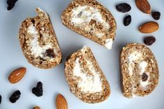 No-Bake Cinnamon Rolls with Banana-Quark Filling Source De Calcium, Quark Cheese, Healthy Desserts, Healthy Recipes, Desserts Sains, Queso Fresco, Saveur, Sin Gluten, Cinnamon Rolls