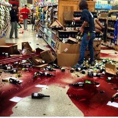 Wine Store Damage from 5.1 La Habra, California Earthquake March 29, 2014
