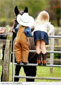 horse, cowboy, and kids image
