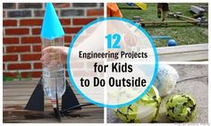 Take engineering outside with these amazing projects for kids - launch rockets, construct mazes, and more!