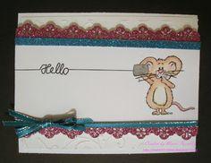 Gerda's Doodles digi stamps, hello card