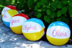 I incorporated tons of bright colors in a girly palette of pink, electric blue, lime, yellow and orange. Then, I added touches of palm trees, pineapples, and flamingos to make this party really pop! One of my favorite parts of the party was this giant beach ball arch that I made using pipe and drape and beach balls to welcome our guests to the party! Evite-Party-Ideas-Contributor-Grey-Grey-Designs-Aloha-High-School-Party-beach-balls