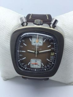 d4d119fb6d8a Super rare vintage Fortis Chronograph Bullhead Valjoux 7734  Fortis Old  Watches