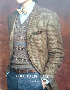Old Ralph Lauren Adverts: Archive Preppy Style, My Style, Tweed Run, Country Attire, Sports Uniforms, Three Piece Suit, Cardigan Outfits, Blazers For Men, Sport Coat