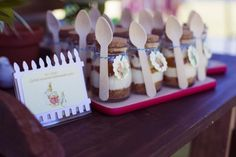 Salted Carmel Cheesecake Cups from a Peter Rabbit 1st Birthday Party via Kara's Party Ideas | KarasPartyIdeas.com (15)