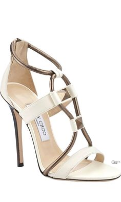 Ivory Wedding Shoes with Pretty Details | Spring 2014, Spring and Fashion shoes heels sandals