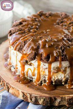Torta gelato cioccolato e caramello