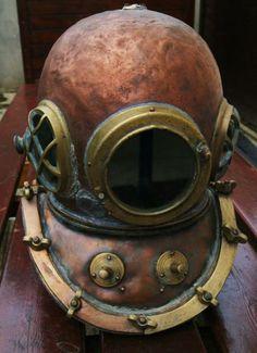 Antique 12 bolt Diving Helmet cooper