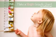 Ruffle Growth Chart (this way, if we move, we don't lose the marks on the wall!)