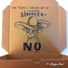 Marathon d'illustration pour Pizza Hut Canada Pizza Life, Pizza Hut, Guerilla Marketing Examples, Order Pizza, Pizza Boxes, Pizza Party, Guerrilla, Grumpy Cat, Box Art