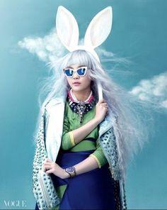Sohee Song wearing modernised han-bok at Vogue