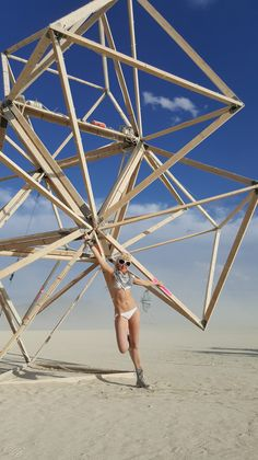 Burning Man 2015. Featuring the Menthu Scale Chest Piece by SeraphimSin.Etsy.com