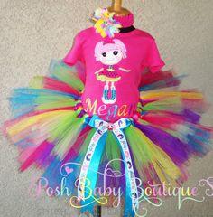 Lalaloopsy Jewel Sparkles Doll Girls Birthday Tutu Outfit