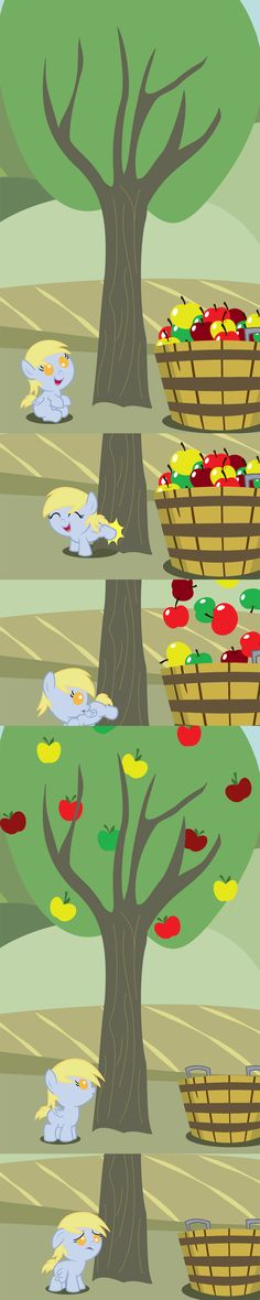 Derpy Bucks Her First Tree by Beavernator.deviantart.com on @deviantART