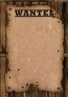 A template wanted poster. Free for use