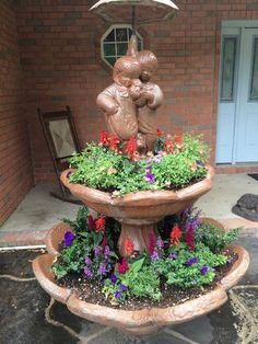 Reuse and Recycle: Broken Fountain to Fabulous! Reuse and Recycle: Broken Fountain to Fabulous!