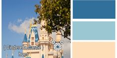 Disney Cinderella color pallet | All Things Disney / Cinderella Castle Color Pallet