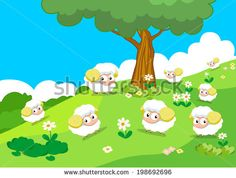 Sheeps on the hill