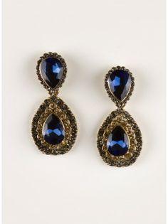 Francesca Earrings in Sapphire - Plus Size Jewelry by IGIGI
