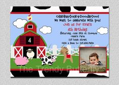 Farm Animals Birthday Invitation Farm Animal Barnyard Birthday Party Invitation Printable Invitation Boys or Girls