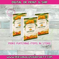 Custom Gift Bags, Customized Gifts, Party Bags, Party Favors, Fall Candy, Brochure Paper, Landscape Mode, Baby In Pumpkin, Craft Bags