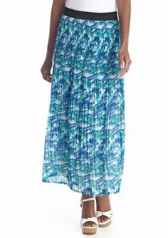Kim Rogers  Crystal Print Pleated Skirt