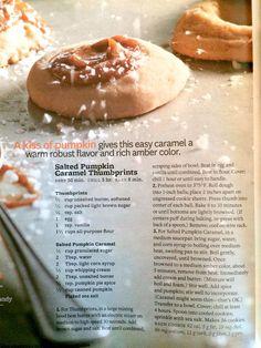 Salted Pumpkin Caramel Thumbprints