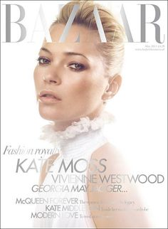 Kate Moss, Bazaar UK. GORGE