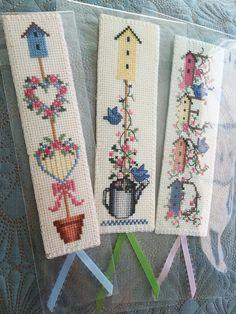 Finished Cross Stitch Bookmark My Backyard Flower III