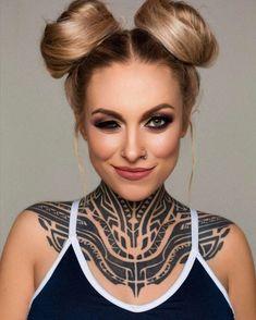 Maori tattoo is a symbol of rank, social status, power, and prestige. Maori Tattoo Ideas - The Ultimate Collection of Ta Moko Tattoo Girls, Sexy Tattoos For Girls, Inked Girls, Girl Tattoos, Tatoos, Tattoos Motive, Maori Tattoos, Head Tattoos, Sleeve Tattoos
