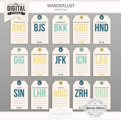 <p> A set of airport coded luggage tags for all your on the go adventures!</p>