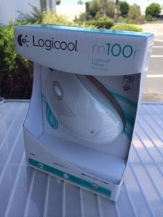 Logitech by LOGICOOL M100r BEIGE USB 3-Button Optical Scroll Mouse Win/Mac--SEAL #LogicoolbyLogitech