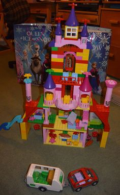 duplo castle made for the house set and a load of our princess palace bits