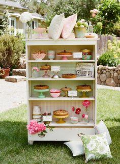Dessert display using bookcase RHS