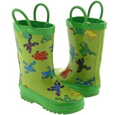 rainboots with frogs