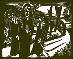 Road to Emmaus woodcut Road To Emmaus, Religious Images, Christian Art, Pictures To Draw, Jesus Christ, Imagination, Art Drawings, Easter, Clip Art