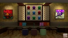 Interior Project : Hookah Lounge & Bar Interiors  Area = 1000 Sq.Ft.