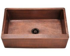 The single bowl apron sink is made from pure-mined copper. It is comprised using one piece construction, giving you a very strong and durable copper sink. Since copper is naturally anti-bacte Drain Opener, Copper Kitchen, Copper Fixture, Copper, Copper Apron Sink, Single Basin, Single Bowl Kitchen Sink, Sink, Copper Sink