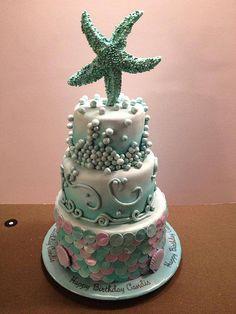 star fish birthday cake