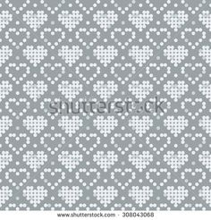 Find Pixel Pattern Seamless Background Texture Pattern stock images in HD and millions of other royalty-free stock photos, illustrations and vectors in the Shutterstock collection. Knitting Charts, Knitting Stitches, Knitting Designs, Knitting Patterns, Crochet Patterns, Cross Stitch Heart, Cross Stitch Borders, Embroidery Hearts, Cross Stitch Embroidery