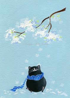 ♞ Artful Animals ♞  bird, dog, cat, fish, bunny and animal paintings - Annya Kai