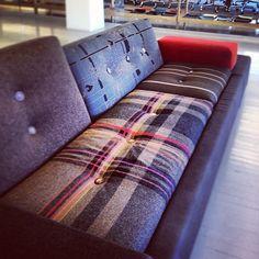 Hella Jongerius's iconic Polder sofa, upholstered in Maharam fabric. #textiledesign