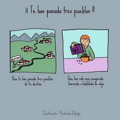 Dibujos para niños con T.E.A. y sus padres.: Frase hecha: ¡¡Te has pasado tres pueblos!! Aspergers, Learning Spanish, Teaching, Education, Social Stories, Figurative Language, Text Types, Interactive Activities, Units Of Measurement