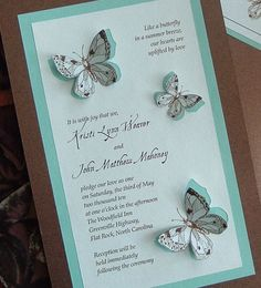 Awesome Teal And Chocolate Brown Butterfly Wedding Invitation By NooneyArt  Http://2.bp