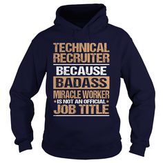 TECHNICAL RECRUITER T-Shirts, Hoodies. CHECK PRICE ==► https://www.sunfrog.com/LifeStyle/TECHNICAL-RECRUITER-97192979-Navy-Blue-Hoodie.html?id=41382
