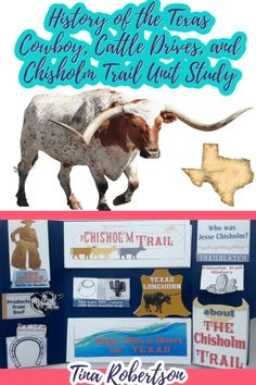 If you're planning a homeschool unit study about Texas or the American Cowboy, Cattle Drives or the Chisholm Trail, you'll love these free hands-on resources, ideas, and printables over at Tina's Dynamic Homeschool Plus. CLICK HERE to grab these fun resources! Hands On Geography, Us Geography, Texas Cowboys, Cattle Drive, Texas History, Unit Studies, Hands On Activities, Worksheets For Kids, Social Studies