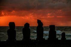 Sunset at Tahai