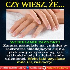 Zdrowe poradniki Healthy Beauty, Healthy Skin, Health And Beauty, Diy Beauty, Beauty Hacks, Beauty Tips, Natural Cosmetics, Good Advice, Diy Nails